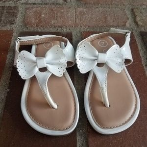 Cute lil girl's white sandals